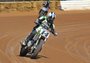 Bill Werner was the man who got the whole Kawasaki flat track bike craze started. Now former Rookie of the Year Briar Bauman is showing good promise on the machine and is hoping to do well at his home race, the Sacramento Mile. (Larry Lawrence photo)