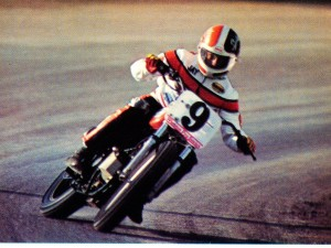 Jay Springsteen had a potent machine in the Bill Werner-tuned factory Harley-Davidson XR750 at the 1982 Sacramento Mile. He needed all the power the bike could provide to draft past Ricky Graham to win a record 30th AMA Grand National.