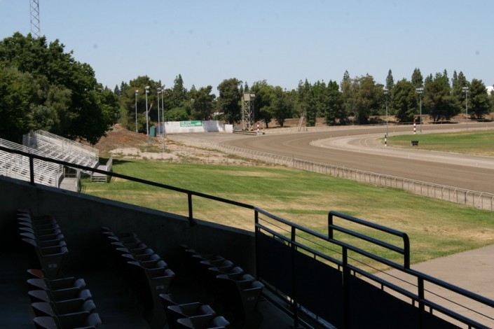 Sacramento Mile View of Turn 4 from Lower Grandstands