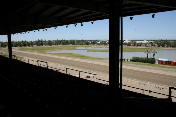 Sacramento Mile View of track from Upper Grandstand seats