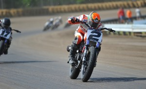 Kenny Coolbeth, Jr. leads the AMA Pro Grand National Championship coming into this Saturday's Sacramento Mile. (Photo courtesy SactoMile.com/Larry Lawrence)
